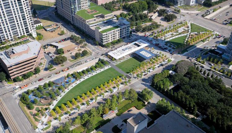 Klyde Warren Park Aerial View 2