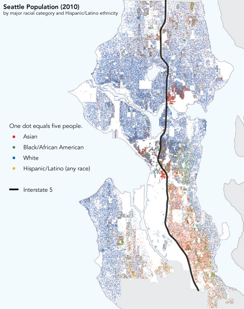 Seattle's population distribution by race. (City of Seattle)